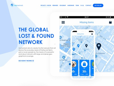 MyTracknet Redesign branding ui flat design blue wordpress flat design redesign