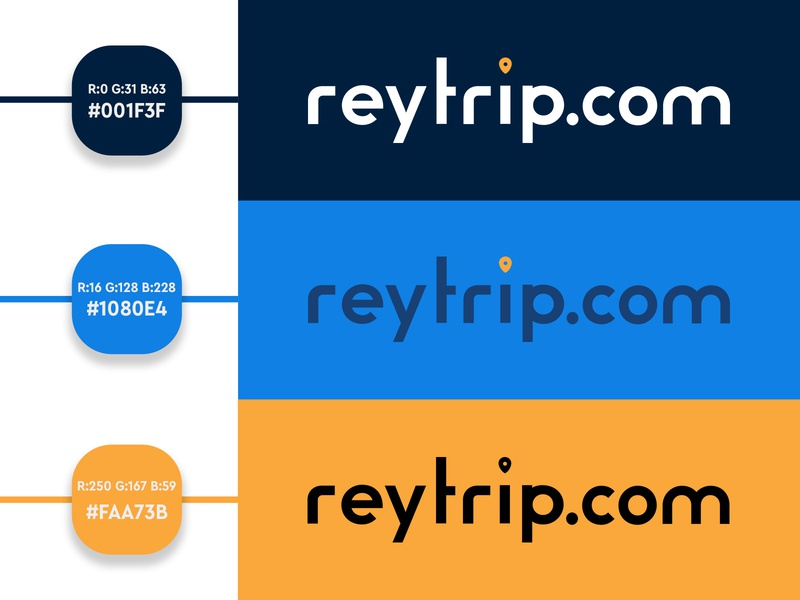 Reytrip.com Logo Design traveling travel logo design logo