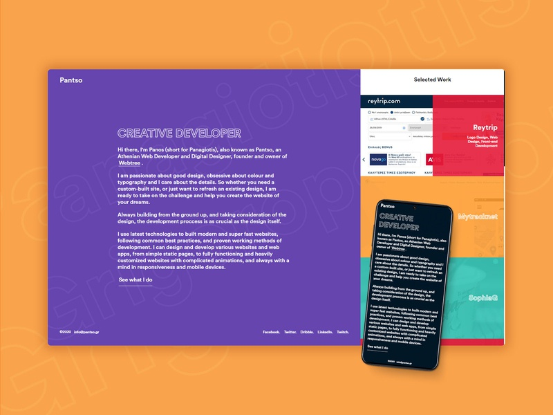 Personal Website Redesign flat design flat personal project portfolio website redesign