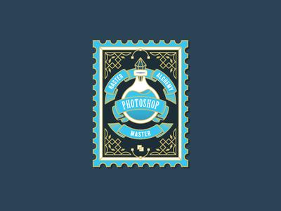 Photoshop Potion for Skill level drink mana illustrator vector flask level master raster alchemy outline magic gold skill illustration stamp design stamp bottle potion photoshop