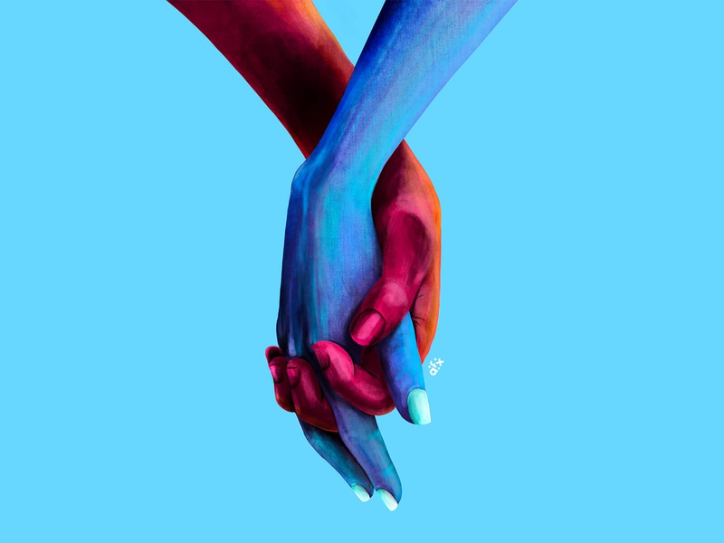 H O L D couple love cool inspiration digital drawing creative art procreate illustraion illustrator hand holding hands hold holding