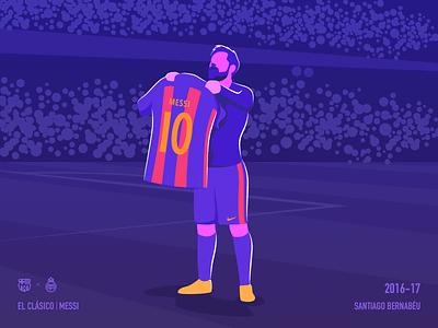 Messi - El Clásico goal real madrid barcelona drawing vector celebration soccer art illustration football elclassico messi