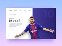 Messi Landing page