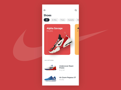 Nike Shoe Store - Parallax Animation scrolling scroll animation animation after effects shoes store blue parallax scrolling design product design nike shoes colors parallax ui animation aftereffects figma