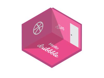 Isometric Dribbble Room - Hello Dribbble! I'm Sanketh