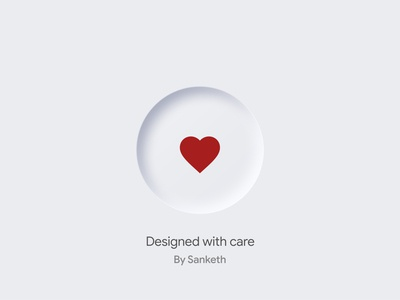 Skeumorphic Heart Button UI UX Element