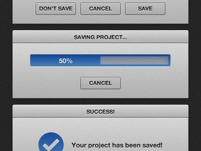 Saving project ui progress bar web app button modal
