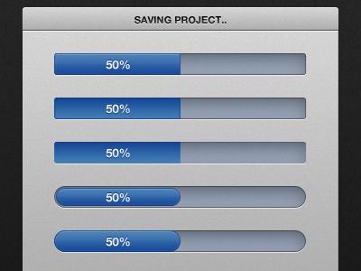 Progress bars ui web app progress bar
