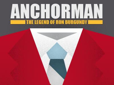 Anchorman illustration texture vector anchorman ron burgundy