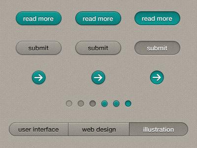 Button styles web button portfolio indicator filter ui turquoise