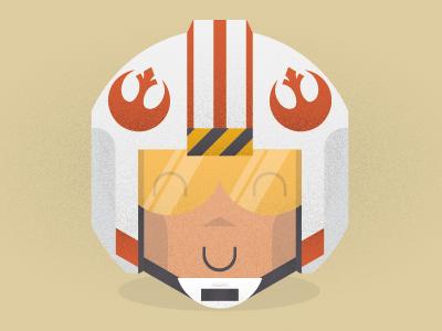 Hey Luke, we had fun on the Death Star typography star wars vector texture illustration luke skywalker mensch typeface