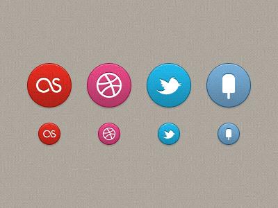 Social buttons ui button portfolio web last.fm dribbble twitter fancy social icons 64px 32px