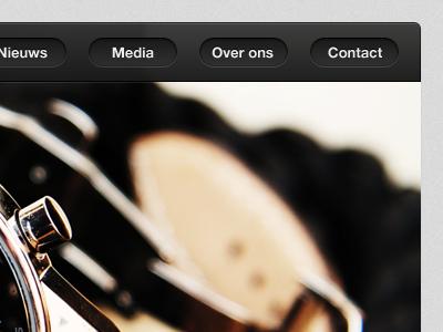 Menu header ui web button watches haarlem slideshow transparent dark navigation bar website watch