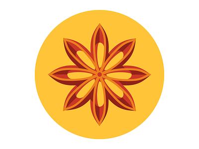 Star Anise flavour anise star illustrator vector illustration spice flat icon star anise