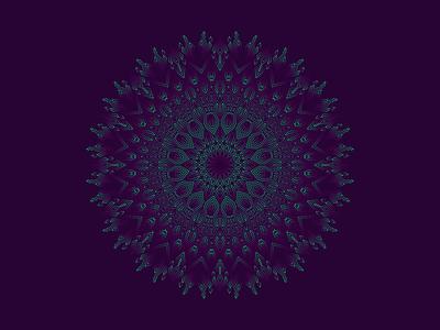 Mandala Wayvana sacred geometry psychedelic pattern illustration gradient shipibo wayvana mandala