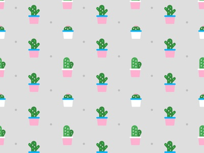 Cactuses cactus affinitydesigner affinity photo affinity designer pattern repeating repeating pattern
