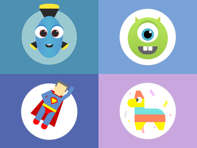 #dailycssimages - Characters characters html css code challenge