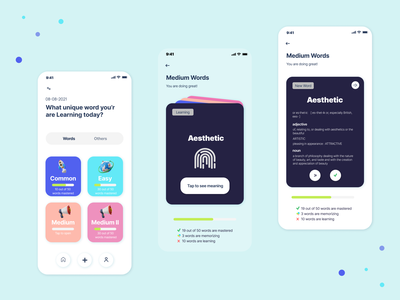 Vocabulary Learning App vocabulary builder gre ielts remember master word language app learning ux vocabulary app word app language word learning words vocab flashcards vocabulary learning vocabulary ui ui