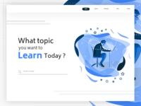 Online learning platform - Landing Page
