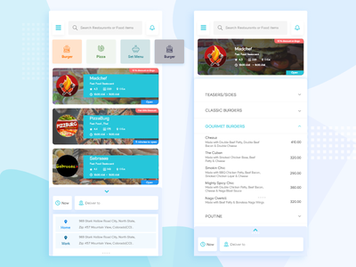 Eatphu Food Delivery App delivery concept home delivery ux ui app fooddelivery delivery app parcel foodui delivery food foodapp
