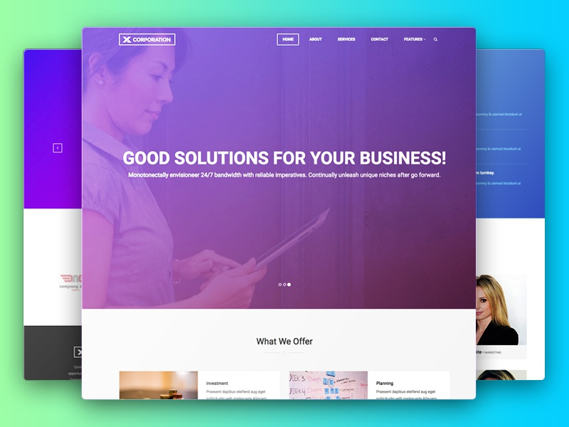 X-Corporation – Free Bootstrap Business HTML5 Template multipurpose finance webdesign template corporate business