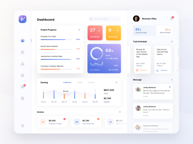 Agency Dashboard Tablet App