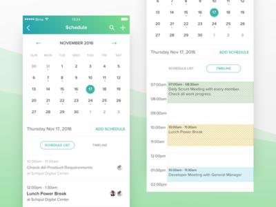 Schedule - Bitco App calendar mobile ux app management project month date ios schedule