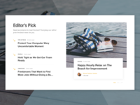 Editor's Pick Section on News Website