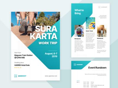 Agensip Work Trip Leaflet Flyer Information