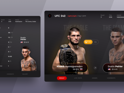 UFC 242 Fight Result on iPad App