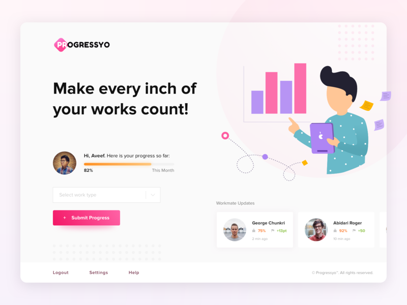 Worker Progress Web App Start Page