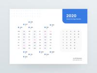 2020 One Page Calendar Freebies
