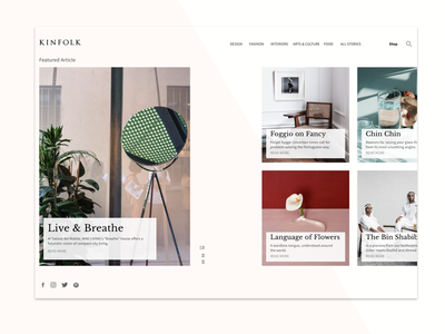 Online Magazie gallery articles magazine layout grid responsive