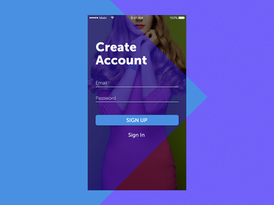 Sign Up - 001 ios login create account sign up mobile dui001 001 dailyui