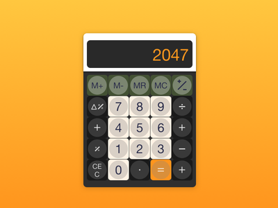 Calculator - 004 widget ux ui dailyui challenge calculator 004