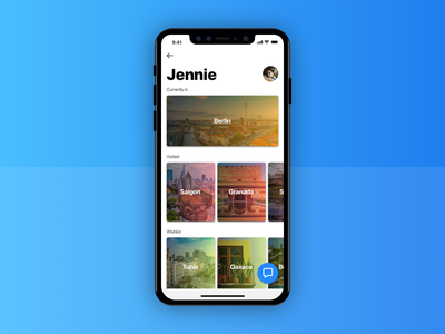 Traveler Profile Screen - 006 iphone x app profile 006 ui daily travel ios icon guides city