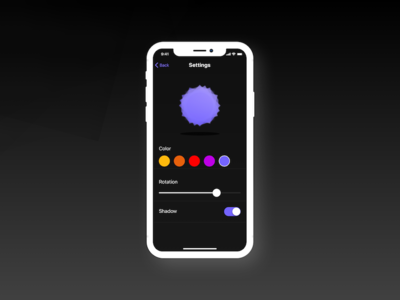 Shapy Polygon Settings - 007 007 polygon color ux toggle slider settings minimal icon ui daily