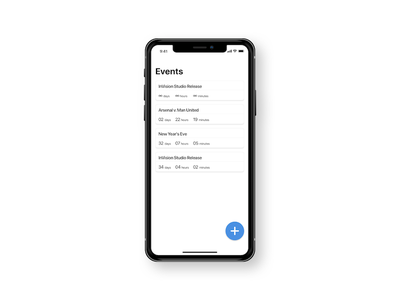 Collective Countdown Timer -  014 ux ui timer ios wireframe minimal dailyui countdown iphonex apple