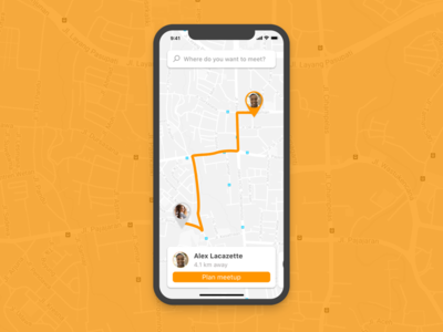 Location Tracker - 020 020 friends find ux ui tracker pin maps location ios distance dailyui