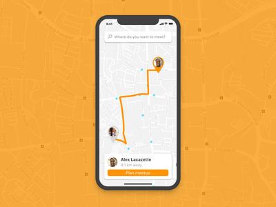 Location Tracker - 020 020 friends find ux ui tracker pin maps location ios distance dailyui