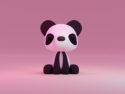 Baby Panda cute animal blender 3d