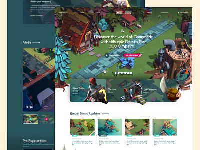 Ember Sword Designs ui web concept game