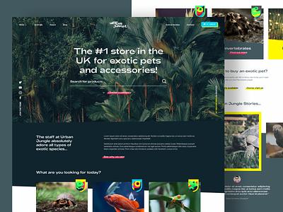 Urban Jungle uxdesign ui design branding petstore ecommerce web react gatsby shopify pets shop
