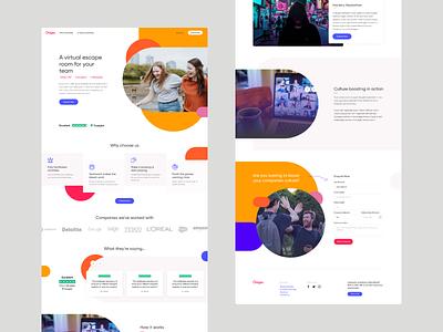 Onigo Landing page landing page design landing page ux ui design identity concept branding web