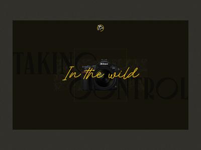 Intro screen for Photographer typography photography portfolio uiux ui branding web