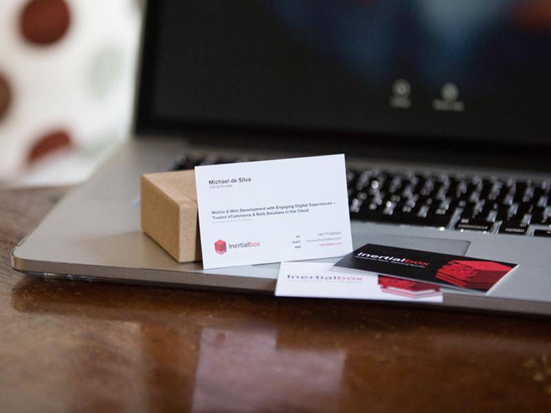 Inertialbox Business Cards branding print business cards