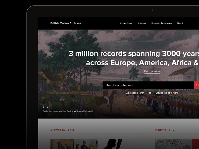 BOA Redesign redesign british online archives