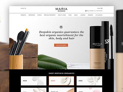 MA Homepage care skin products home web