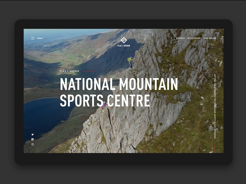 Adventure sports branding responsive website bike paddle hike climb snowdon snowdonia wales sports adventure