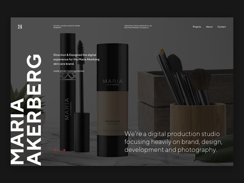 New Portfolio - Grilled Pixels ux typography ui design portfolio web